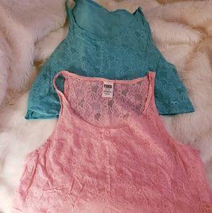 PINK! Lace Crop Tops Bundle